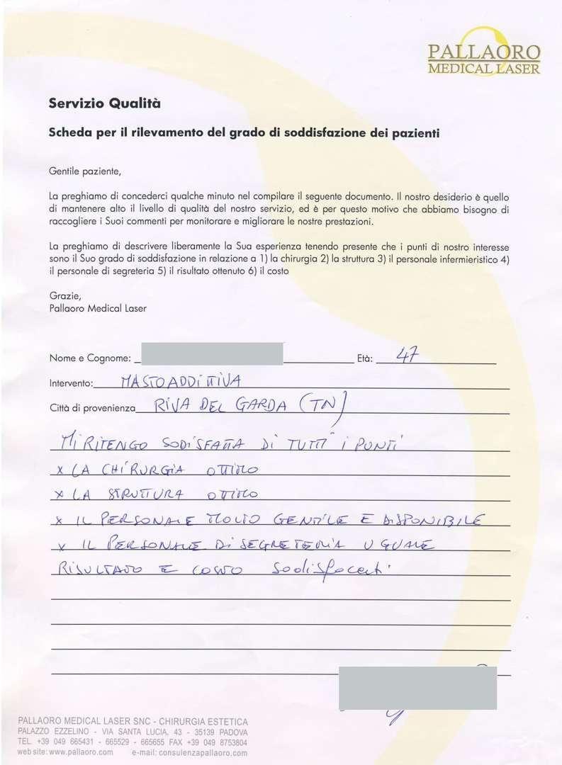 Mastoplastica Additiva Riva Del Garda Tn Chirurgia
